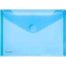 FolderSys documenthoes, A5 liggend, klittenbandsluiting, PP, blauw