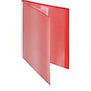 FolderSys presentatiemap met vak vooraan, voor A4-formaat, 10 hoesjes, rood