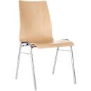 Formschalenstuhl 720, Sitzschalenform konisch, natur