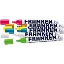 Franken krijtstiften set ZKM97, 6 markers in diverse kleuren