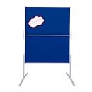 FRANKEN Moderationstafel, klappbar, 1200 x 1500 mm, Filz, blau