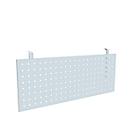 Frontpaneel bureau, voor verbindingsplaat 90°, geperforeerd paneel, aluminium zilver