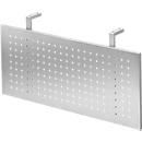 Frontpaneel voor bureautafels, metaal, geperforeerd, zilverkleurig gemoffeld, B 800 mm