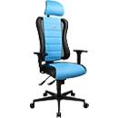 Gaming Stuhl SITNESS RS, 3D-Sitzfläche, Synchronmechanik, Sitzzeit 8 Std., schwarz/blau
