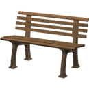 Gartenbank, 2-Sitzer, L 1200 mm, braun