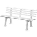 Gartenbank, 3-Sitzer, L 1500 mm, weiß