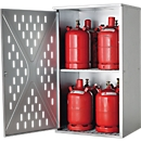 Gasflaschenschrank LG.2845 asecos, für 4 x 33/10 x 11/18 x 5 kg, 1-wandig, für Außen, abschließbar, B 840 x T 690 x H 1500 mm, Stahl