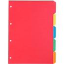 Gekleurd Kartonregister, 5-delig, 5 kleuren, sparpaket van 5 sets