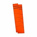 Gekleurde zelfklevende etiketten voor ordners, kort,smal, rood