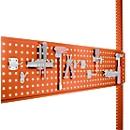 Geperforeerde gereedschapsplaat, voor tafelbreedte 1250 mm, voor serie Universal/Profi, roodoranje RAL 2001
