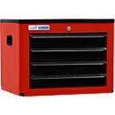 Gereedschapskist BASIC, H 450 x B 600 x D 440 mm, 4 schuifladen, rood