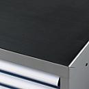 Geribbelde rubberen mat voor gereedschapskasten WSK, zwart, 1023 x 725 mm