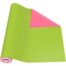 Geschenkpapier groen/roze, rol L 50 m x B 500 mm, bruikbaar aan beide zijden