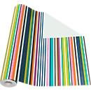 Geschenkpapier kleurrijke strepen, rol L 50 m x B 500 mm