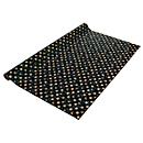 Geschenkpapier Sigel Stardust, L 5 m x B 70 cm, zwart met goud-zilveren sterren/cirkels, 1 rol