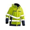 Gevoerde jas Jobman 1383 PRACTICAL, Hi-Vis, EN 343 I EN ISO 20471 klasse 3, geel I donkerblauw, polyester, XS