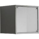 Glastür für Regalwürfel, weiß