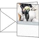 Glückwunsch-Karten Just Married, inkl. weißer Umschläge, 10 Stück