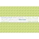 Glückwunschkarte Korsch, Banderole, doppelte Einlage m. Haltestanzung, 170 x 115 mm, 250 g/m², grün/weiß, 10 Stück