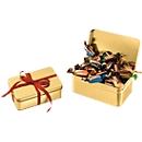 Goldbox Merci Chocolate Collection, goldene Metalldose, individualisierbar