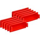 Greepsluiting voor Euronorm bak, rood, 10 stuks