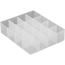 Groot inzetstuk, onderverdeling 4 x 4, voor versch. kunststof boxen