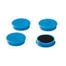 Haftmagnete, Ø 40 mm, Haftkraft ca. 1200 g, 4 Stück, blau