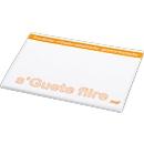 Haftnotizblock, L 100 x B 75 mm, weiß, 50 Blatt, inkl. einfarbige Werbeanbringung