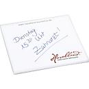 Haftnotizblock, L 75 x B 75 mm, weiß, 50 Blatt, inkl. einfarbige Werbeanbringung
