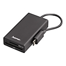 Hama USB 2.0 OTG Hub/Card Reader - Kartenleser - USB 2.0