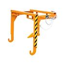 Heftrucktraverse BST 70, voor stapelbare kiepbakken BSK, oranje