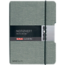 Herlitz Notizbuch my.book, Format DIN A4, Leinenoptik, 40 Blatt