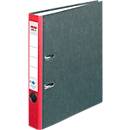 herlitz Ordner maX.file nature met wolkenmarmerpapier, met gelijmde rugetiket, A4, 50 mm, rood, 1 stuk