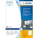 Herma ablösbare Etiketten Nr. 10315 auf DIN A4-Blättern, 100 Etiketten, 100 Bogen