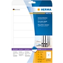 Herma ordneretiketten A4, 192 mm lang, permanent hechtend/bedrukbaar, 175 stuks, wit