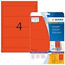 Herma ordneretiketten A4, 192 mm, permanent hechtend/bedrukbaar, 80 stuks, rood