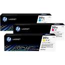 HP Color LaserJet 201X (CF253XM) Druckkassetten, cyan+ magenta + gelb SET
