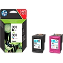 HP Druckpatronen Nr. 301 SET, schwarz, color (N9J72AE)