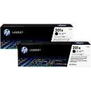 HP LaserJet 2 x HP 201X (CF400XD) printcassettes, zwart
