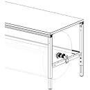 Hüdig+Rocholz Achssatz für Packtisch System Flex, für Tischbreite 2000 mm