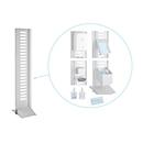 Hygienestation Basic, modulares Komplettset, B 355 x T 500 x H 1670 mm, Stahl pulverbeschichtet, weißaluminium RAL 9006