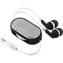 In-Ear Kopfhörer Coloursound, mit Kabel, ausziehbar, mit Reflektor, schwarz