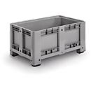 Industriebox, met 4 poten, gesloten, 330 liter