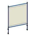 Infektionsschutzrahmen 5900 für fetra Transportgeräte, Stahlrohr/PVC-Folie, brillantblau RAL 5007/glasklar, L 910 x B 49 x H 1410 mm