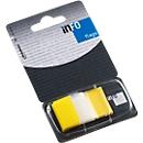 INFO Flags Haftnotizen, 25 mm x 43 mm, 50 Blatt, gelb transparent