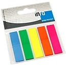 INFO kleefstroken Page Marker, 12 mm x 50 mm, 5 x 25 vellen, rechthoek