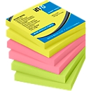 inFO Power Notes Haftnotizen, 75 x 75 mm, 80 Blatt pro Block, 6 Blöcke, 3 Farben
