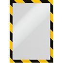 Informatiekader DURAFRAME® SECURITY A4, geel/zwart, 2 stuks