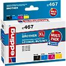 Inkt edding voor Brother LC1280XL, zwart, cyaan, magenta, geel