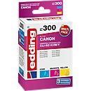 Inktcartridges multipack edding compatibel met Canon CLI-521, 3-kleurig, 690 pagina's